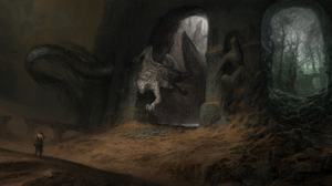 Creepy Demon Man 6000x3000 Wallpaper