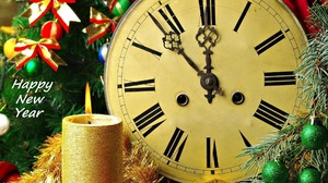 Candle Christmas Clock Decoration New Year 1920x1200 Wallpaper