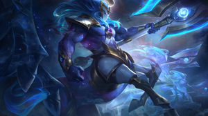 Hecarim League Of Legends Riot Games Cosmic Break Charger Space Galaxy 7680x4320 Wallpaper