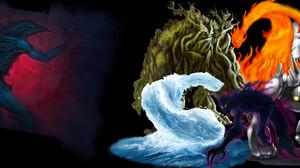Fantasy Elemental 2304x864 Wallpaper