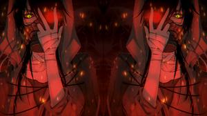 Dubstep Anime Anime Boys Riddim Dubstep Red Fire Red Character Matiastep 1920x1080 Wallpaper