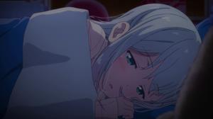 Eromanga Sensei Izumi Sagiri Anime Girls In Bed Face Blue Eyes 3072x1728 Wallpaper
