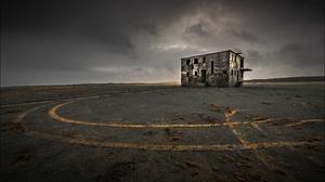 Outdoors House Abandoned Sky Ruin Ruins 3840x2160 Wallpaper