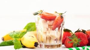 Banana Fruit Glass Strawberry 2048x1365 Wallpaper