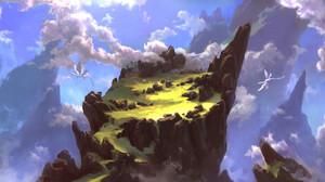 David Frasheski Digital Art Landscape Dragon Clouds 3840x1864 Wallpaper