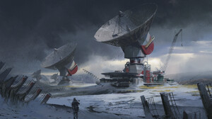 Building Landscape Radar Sci Fi Snow 1920x1406 Wallpaper