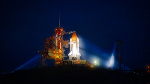 Cape Canaveral Nasa Night Space Shuttle Space Shuttle Atlantis 6048x3463 Wallpaper