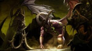 World Of Warcraft Illidan Stormrage Maiev Shadowsong 1920x1080 Wallpaper