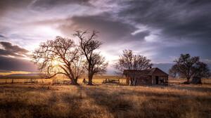 Ranch Ruin Sunset 2048x1252 Wallpaper