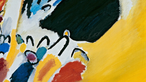 Painting Wassily Kandinsky Oil Painting 3920x1641 Wallpaper