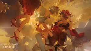 Miv4t Anime Anime Girls Touhou Inubashiri Momiji Aya Shameimaru Japanese Clothes Sarashi 2525x1400 Wallpaper