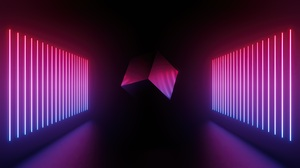 3D Abstract Cube Shapes Abstract 5120x2880 Wallpaper