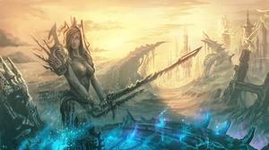 Fantasy Women Warrior 6000x3355 Wallpaper