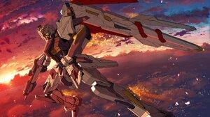 Gundam Mech Flying Clouds Weapon 1920x1080 Wallpaper