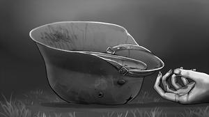 M40 Helmet German Army Monochrome Cracked Bullet Holes Death World War Ii 2000x1125 Wallpaper