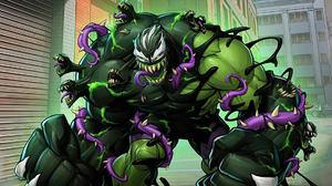 Crossover Hulk Marvel Comics Venom 1920x1080 Wallpaper