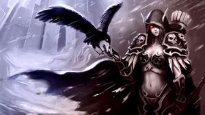 Armor Gothic Rain Raven Sylvanas Windrunner 1920x1080 Wallpaper