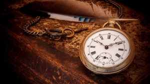 Feathers Clocks Technology Time Keys Numbers 2047x1365 wallpaper