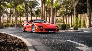 Ferrari F40 Ferrari Red Car Car Vehicle Sport Car Supercar 2048x1367 Wallpaper