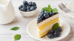 Berry Blueberry Cake Dessert Still Life 5608x3739 Wallpaper