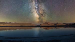 Landscape Stars Milky Way Water Reflection 3000x2033 Wallpaper