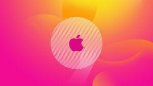 Abstract Apple Apple Inc Digital Art Pink Yellow 2560x1600 Wallpaper