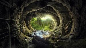 Cave Earth Rock 3840x2160 Wallpaper
