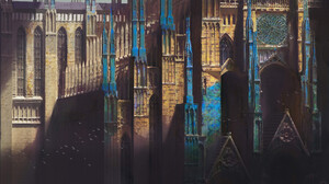Artwork Digital Art Castle Fantasy Architecture Cathedral Fantasy Art 3840x2304 wallpaper