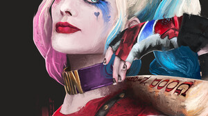 Rui DiAS Margot Robbie Fan Art Portrait Display Artwork Digital Painting Digital Art Harley Quinn Ar 3840x4800 Wallpaper