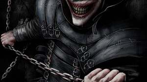 The Batman Who Laughs Comic Art Digital Art Chains DC Comics Laughing Batman 3840x5612 Wallpaper