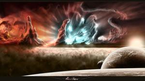 Planet Space 2000x1000 Wallpaper
