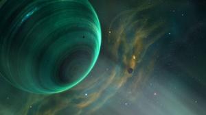 Planet Space 5120x1920 wallpaper
