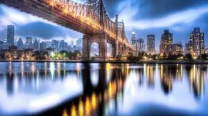 Bridge Reflection Queensboro Bridge Manhattan New York City Cityscape 2048x1366 Wallpaper