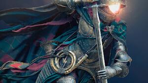 Artwork ArtStation Digital Art Fantasy Art Knight Sword Armored Michael Black 1920x2318 Wallpaper