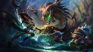 Akali League Of Legends Battle Dr Mundo League Of Legends Fantasy Jayce League Of Legends Nocturne L 2000x1219 Wallpaper