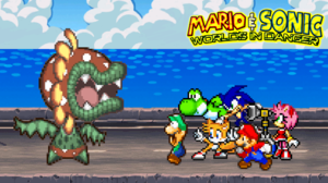 Luigi Mario Petey Piranha Sonic The Hedgehog Yoshi 2500x1406 Wallpaper