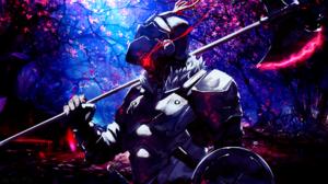 Goblin Slayer Axe Red Eyes Armor Sakura Blossom Pink Leaves 1920x1080 Wallpaper