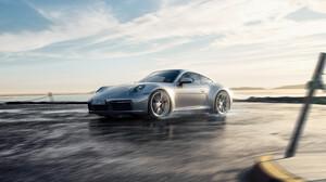 Car Porsche Porsche 911 Porsche 911 Carrera Silver Car Sport Car Vehicle 3840x2327 Wallpaper