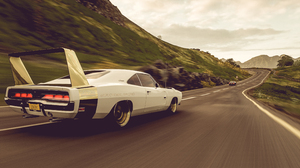 Daytona Vintage Car Forza Forza Horizon 4 In Game Video Game Art Screen Shot Games Posters Muscle Ca 3840x2160 Wallpaper