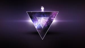 Astronaut Purple Triangle 1920x1080 Wallpaper