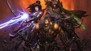 Wizard Diablo Iii Demon Hunter Diablo Iii Barbarian Diablo Iii 1920x1200 wallpaper
