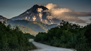 Cloud Mountain Nature Road Sky Volcano 3840x2400 Wallpaper