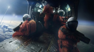 Astronaut Gun Soldier Space 3840x2160 wallpaper