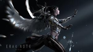 Artwork Fantasy Art Armor Wings Angel Erak Note 3000x1826 Wallpaper
