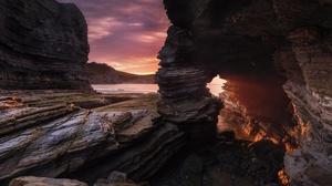 Arch Nature Rock Sunbeam 2048x1367 Wallpaper