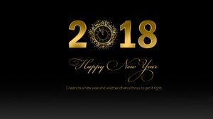 Clock Gold New Year New Year 2018 2560x1440 Wallpaper