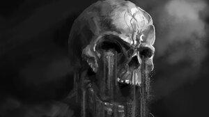 Artistic Artwork Black Amp White Horror Skull 1829x1125 Wallpaper
