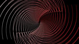 Digital Art Fractal Gradient Lines Spiral 7680x4320 Wallpaper