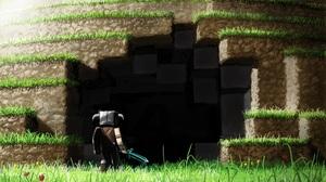 Minecraft Warrior Cave 3360x2100 Wallpaper