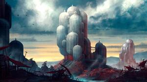 Sci Fi City 2560x1341 Wallpaper